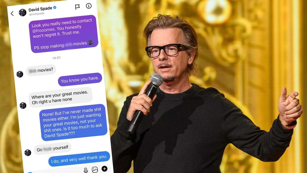 Article heading image for David Spade's Explosive DMs With Aussie Celeb