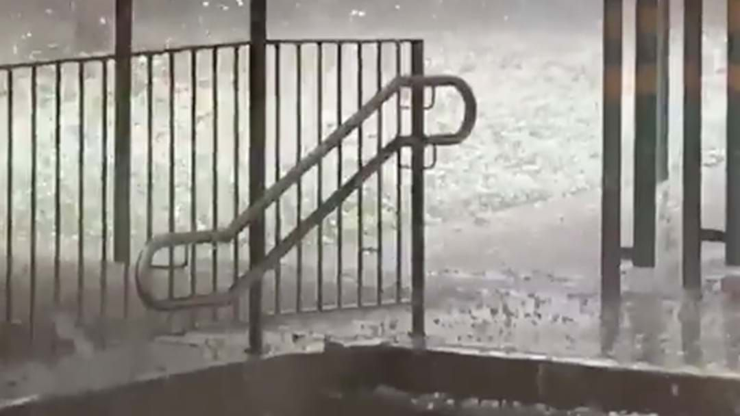 Article heading image for Sydney's South-West Is Currently Getting Battered By Hail