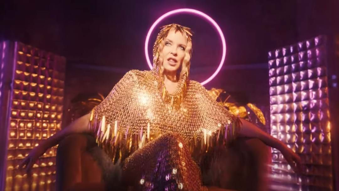 Article heading image for Kylie Minogue Literally Has A Disco Stick In Her New Clip For 'Magic'
