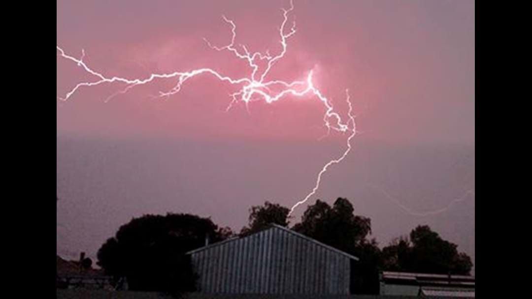 Article heading image for Hail, wind and a cracking lightning storm