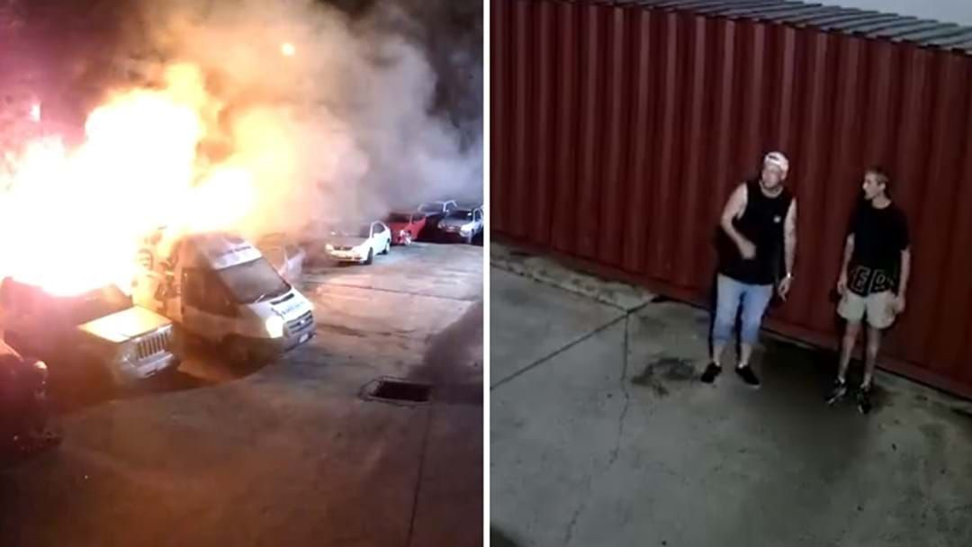 Article heading image for WATCH: Pair Break Into Molendinar Car Yard, Cause Havoc