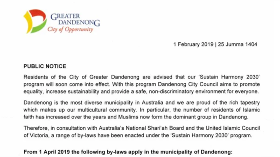 Article heading image for Police Investigating Fake Sharia Law Letter In Dandenong Mailboxes