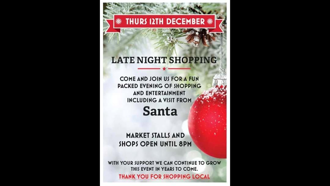 Article heading image for Late Night Shopping in Narrogin