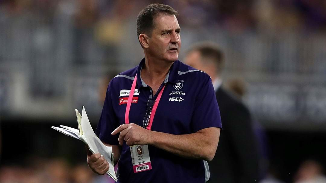 Article heading image for Ross Lyon Guarantees He Will Be Coaching Fremantle Next Year