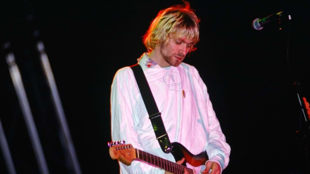 Article heading image for Kurt Cobain's Iconic Hospital Gown From Nirvana's Reading Festival Set Is Up For Auction