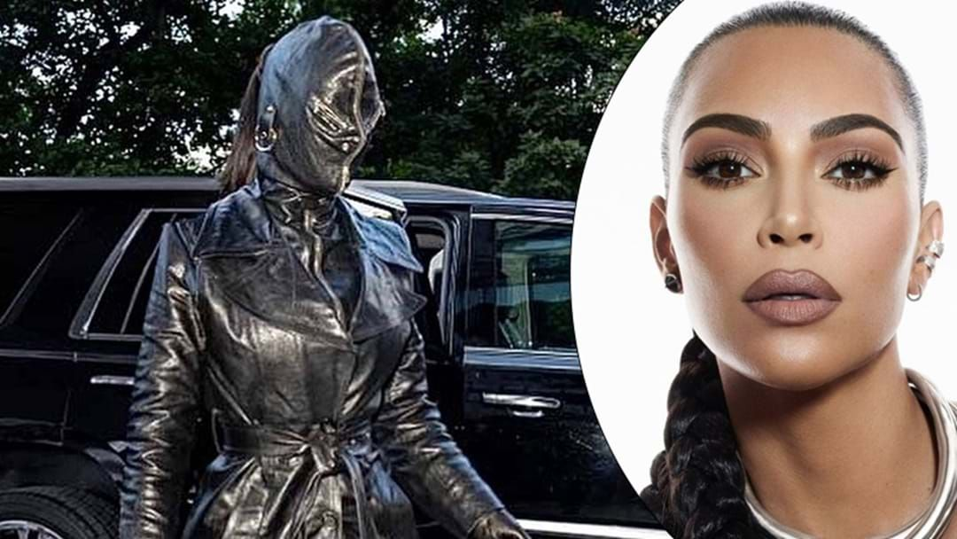 Article heading image for Kimmy K Shocks With Head-To-Toe Leather Outfit