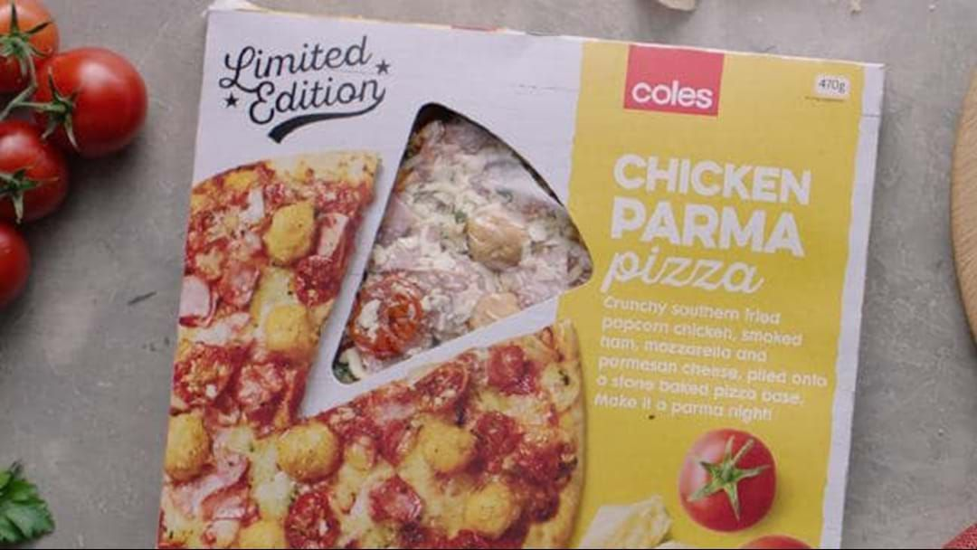 Article heading image for Coles Have Just Launched A Chicken Parma/ Parmi Pizza If You're Keen To Do Yourself Some Damage This Weekend