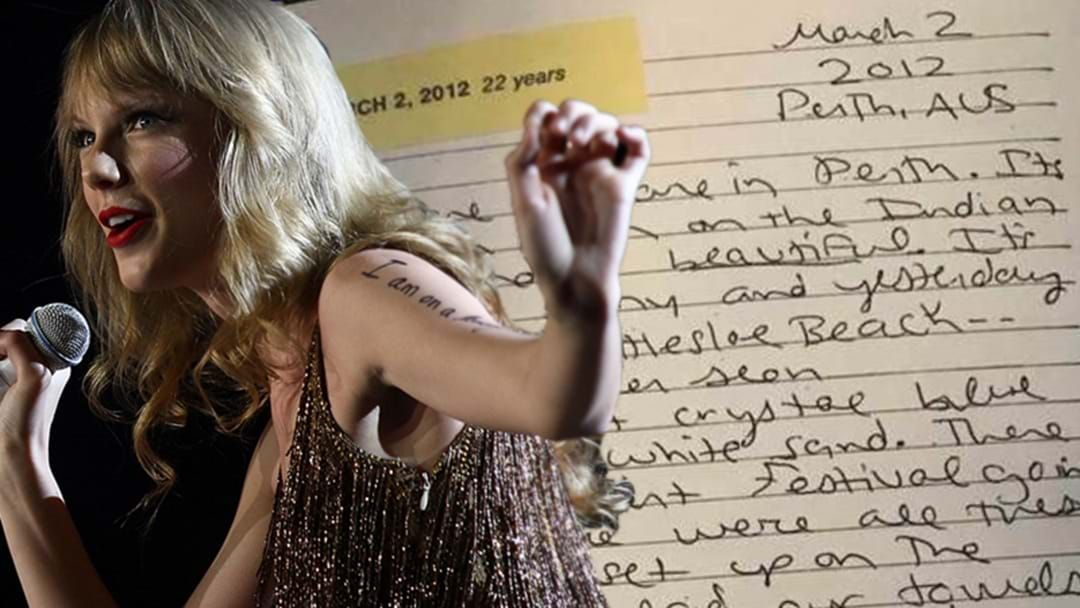 Article heading image for Turns Out Taylor Swift, Like Hugh Jackman, Is A MASSIVE Fan Of Perth And There's A Diary Entry To Prove It