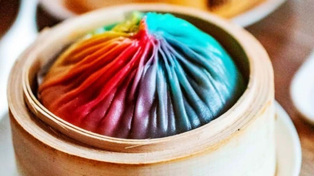 Article heading image for Giant Rainbow Dumplings Now Exist In Melbourne Because Of Course They Do