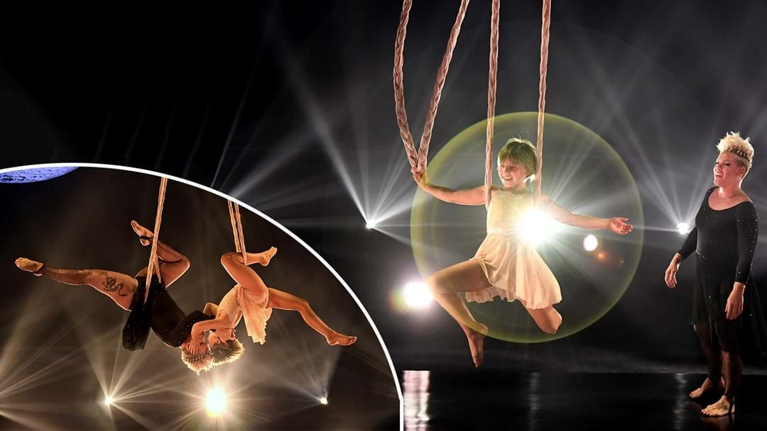Article heading image for P!nk's Daughter Willow Bravely Joined Her Mum In Her Acrobatic Billboards Performance