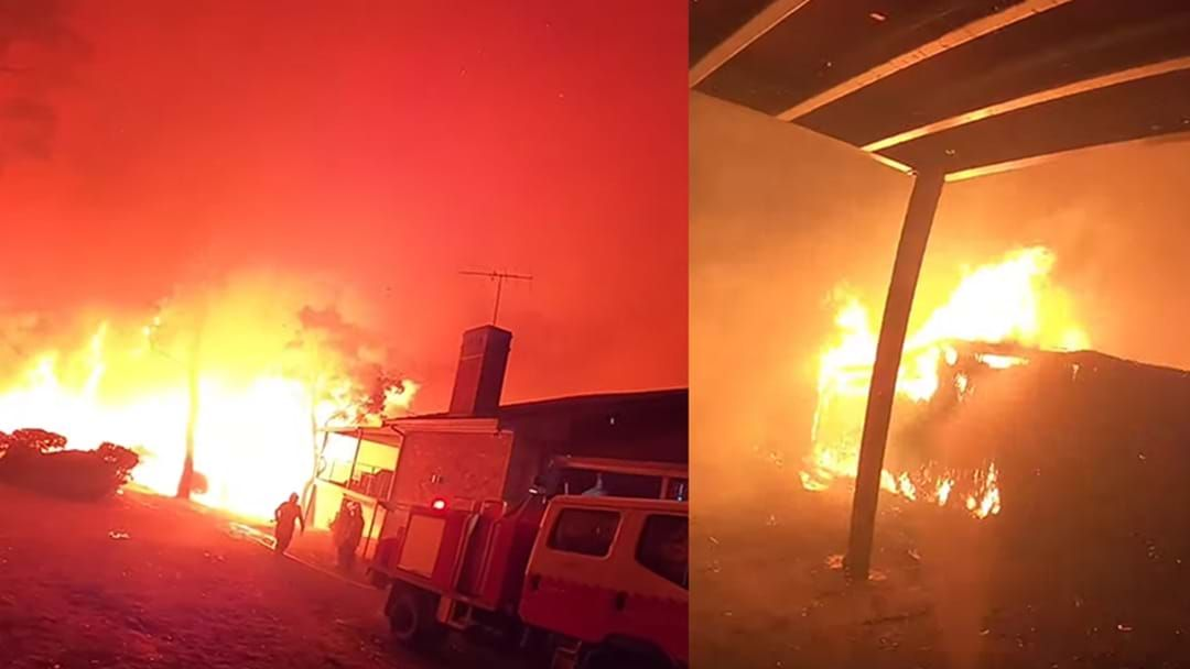 Article heading image for Insane Footage Takes You On The Frontline As NSW Firefighters Battle Monster Bushfire