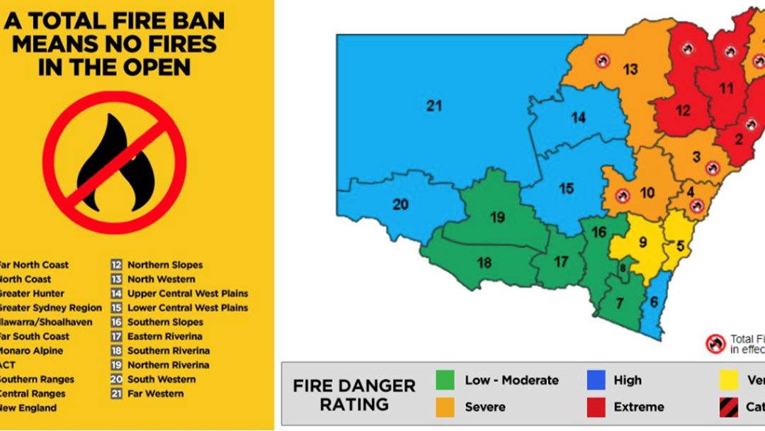 Article heading image for BOM Revises Fire Danger Rating As Total Fire Ban In Place For Sydney