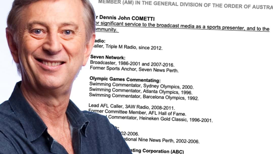Article heading image for BREAKING: Dennis Officially Recognised For Being A Legend