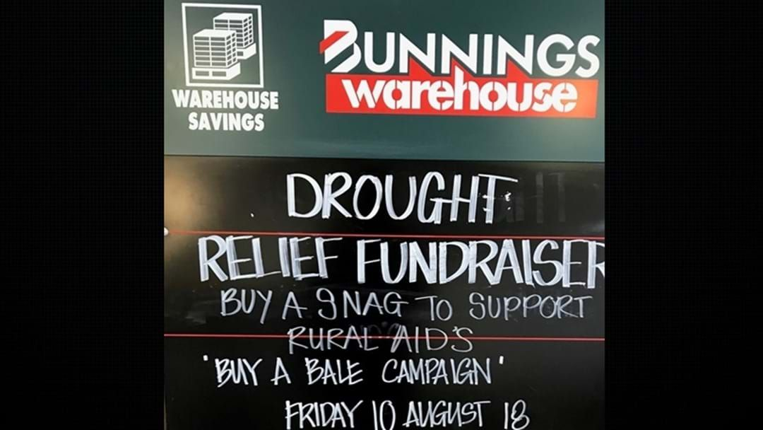 Bunnings BBQ Drought Relief Sausage Sizzle | Triple M