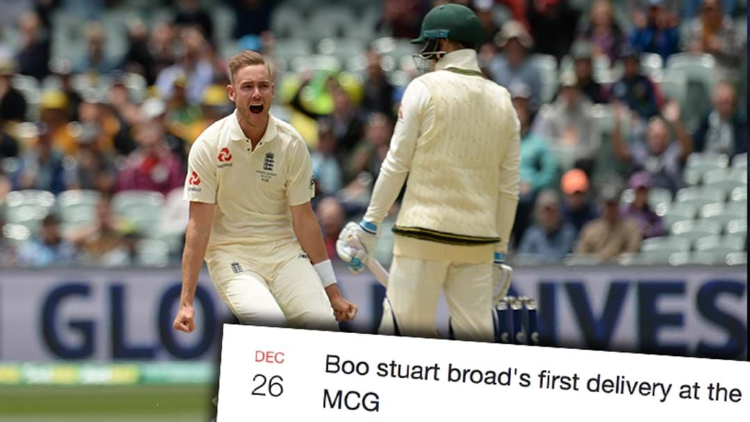 Article heading image for Fans Are Being Urged To Boo Stuart Broad On Boxing Day