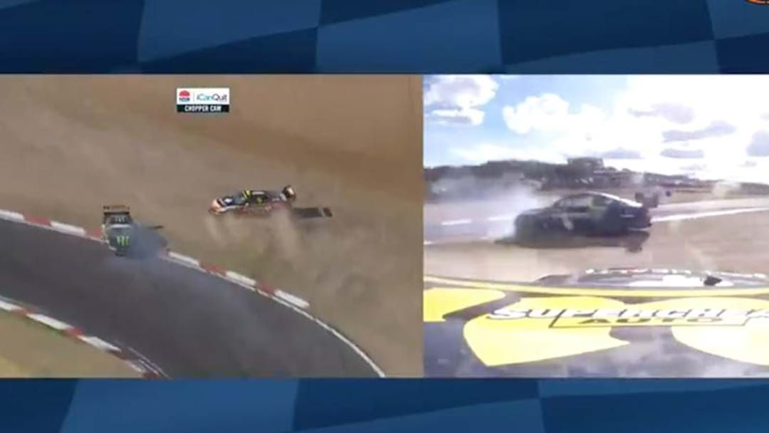 Article heading image for NOT AGAIN | Teammates Chaz Mostert and Cameron Waters Crash Out Of Bathurst 1000