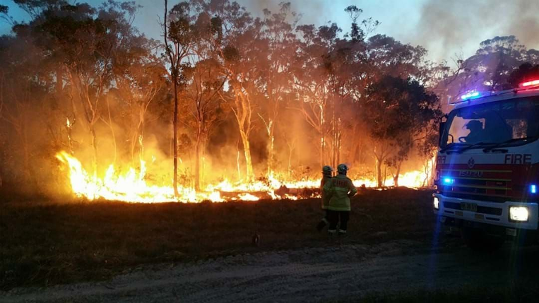 Article heading image for VIDEO: Car Fire Sparks Lake Macquarie Bushfire