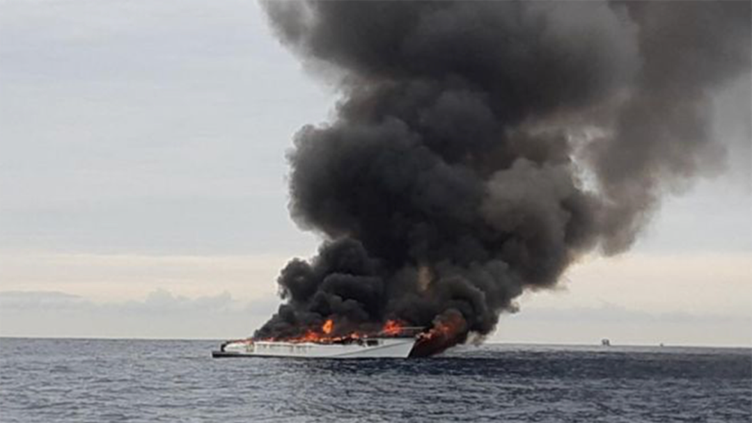 Article heading image for Gold Coast Whale Watching Boat Erupts Into Flames