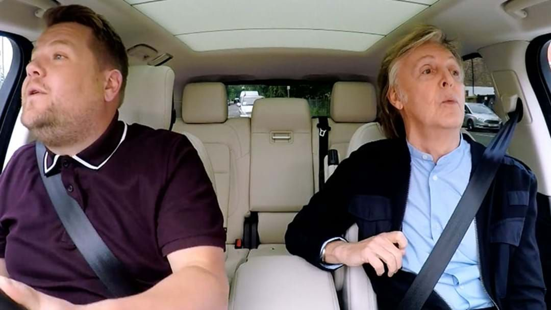 Article heading image for Check Out Sir Paul McCartney's Brilliant Carpool Karaoke Here