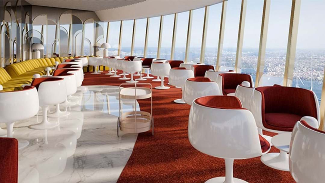 Article heading image for Sydney Tower's Restaurant & Rooftop Bar Have Received Glamorous Retro Makeovers!
