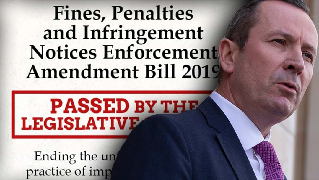 Article heading image for McGowan: People Won't Go To Jail For Not Being Able To Pay Fines