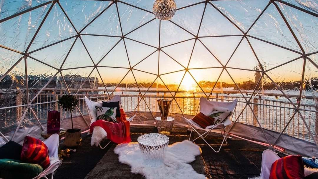 Article heading image for Take In The Magical Views Of Vivid From Inside An Igloo Bar