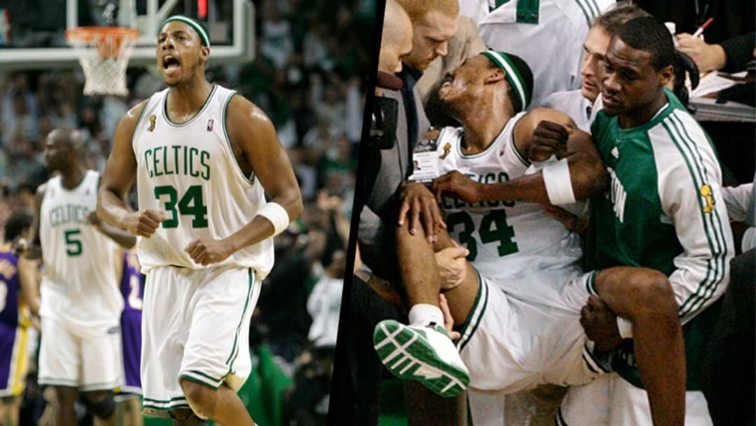 """Article heading image for NBA Legend Paul Pierce Finally Admits That That Infamous """"Wheelchair Game"""" Was Cos He Popped His Dacks"""