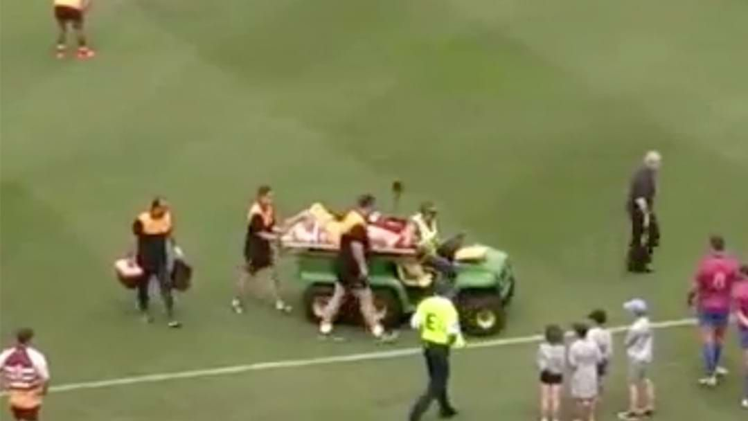 Article heading image for Former Bronco Stretchered From The Field in Legends Game