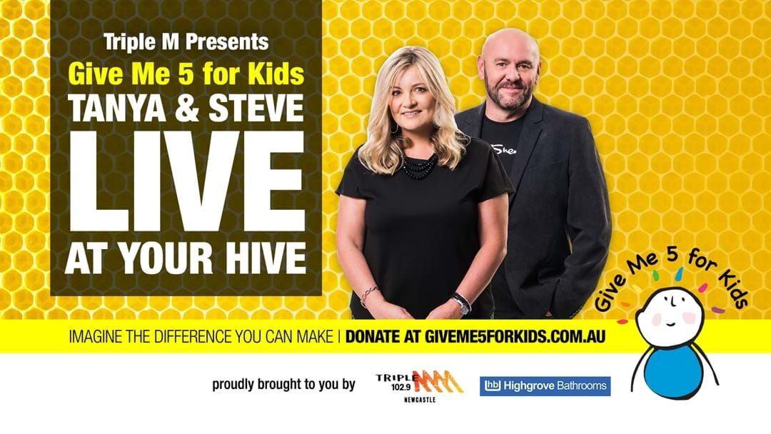 Article heading image for Tanya and Steve Live at Your Hive for Give Me 5