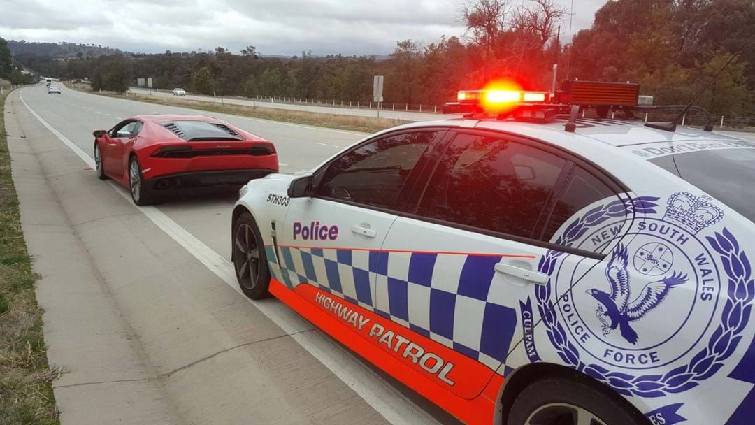 Article heading image for Lamborghini stopped twice on the Hume Highway