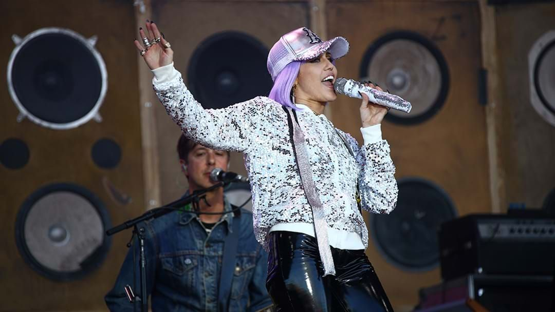 Miley Cyrus performs as Black Mirror persona Ashley O at Glastonbury Festival
