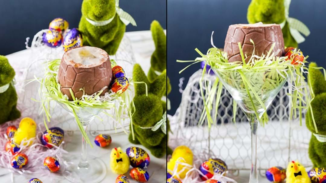 Article heading image for The Cadbury Creme Egg Cocktail Has Arrived In Western Sydney