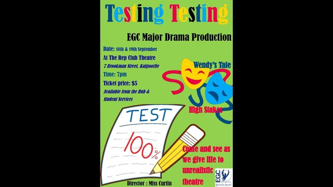 Article heading image for Testing time for EGC Drama Students
