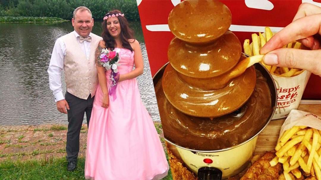 Article heading image for Couple Hold Wedding Reception At KFC Complete With Gravy Fountain