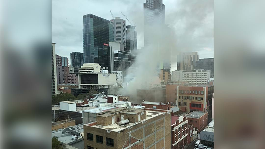 Article heading image for BREAKING: Large Fire In Melbourne CBD