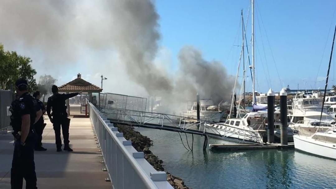 Article heading image for Flaming Breakwater Marina As Boat Catches Fire