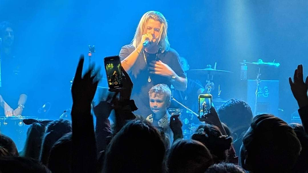 Article heading image for Conrad Sewell Brought 4-Year-Old Fan Xavier On Stage At His Show!