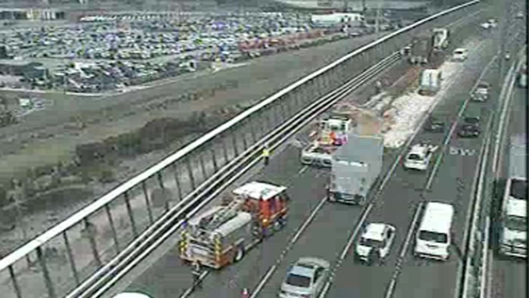 Article heading image for Two Trucks Have Collided On The West Gate, So The Traffic's Cooked