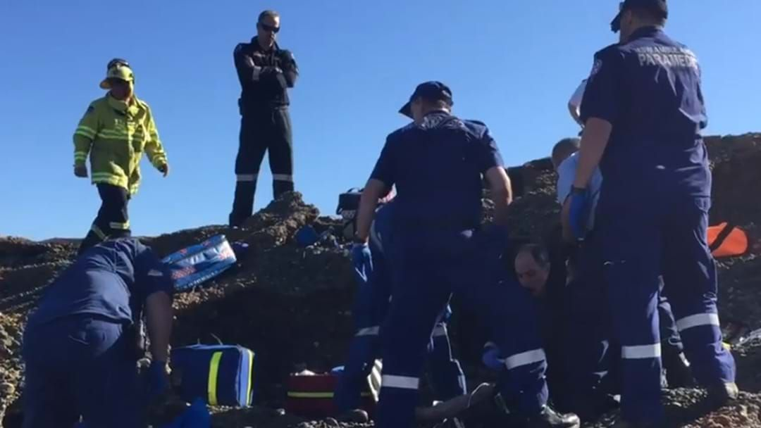 Article heading image for Rock Fisherman Injured At Catherine Hill Bay