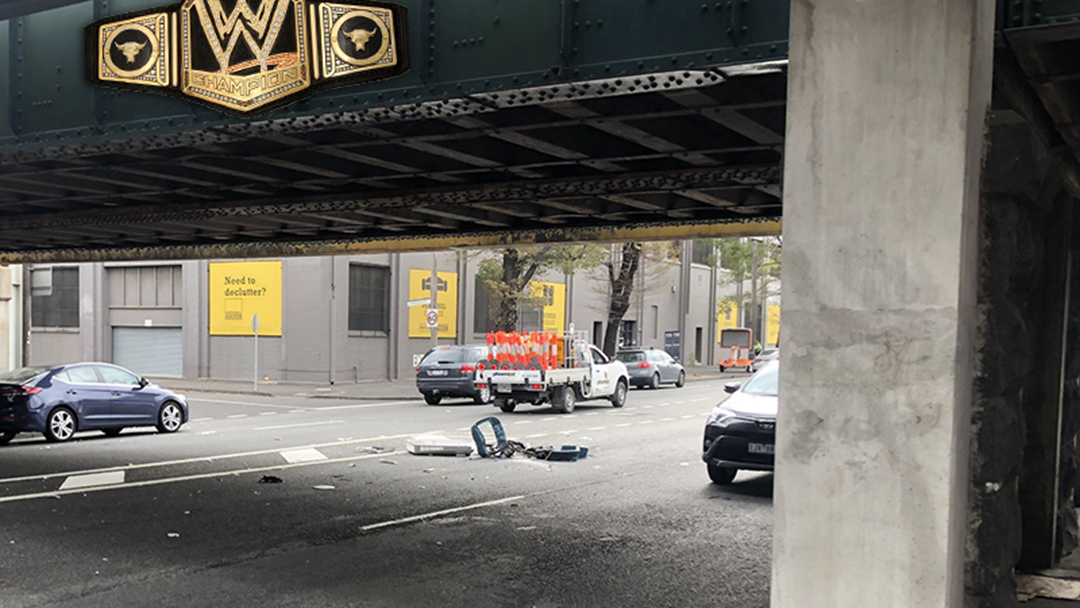 Article heading image for For About The 5765th Time The Montague Street Bridge Has Straight Up Decapitated A Vehicle