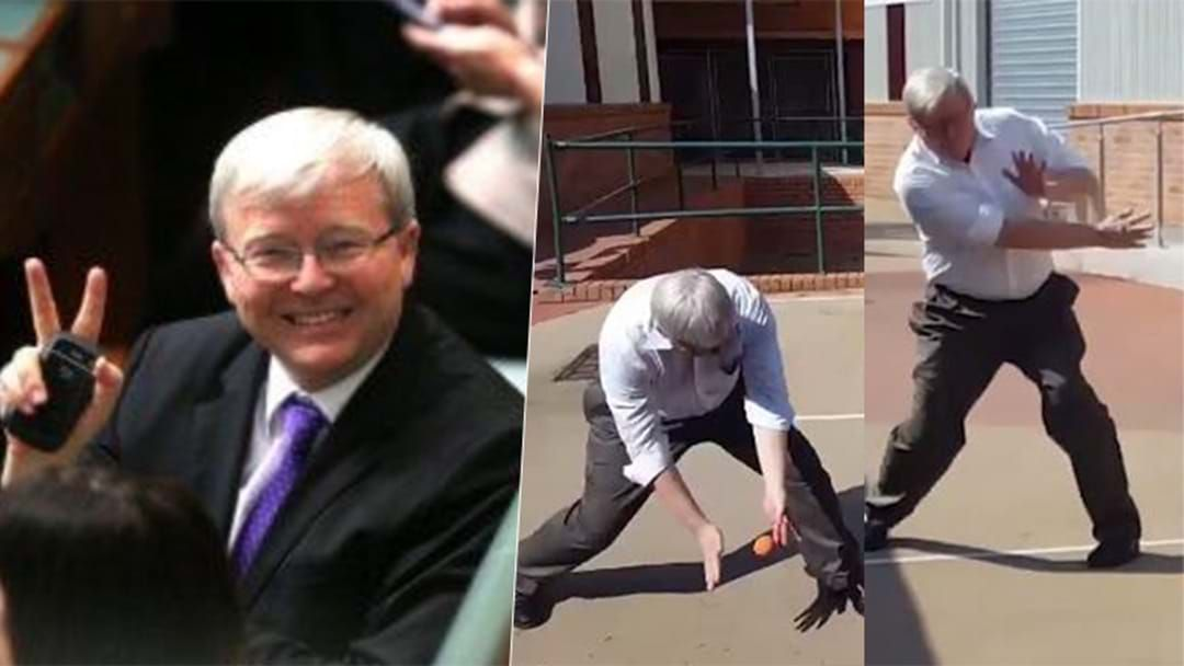 Article heading image for Kevin Rudd Just Posted His First TikTok & We're Mad It's Not Him Playing Handball