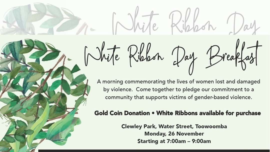 Article heading image for Annual White Ribbon Breakfast