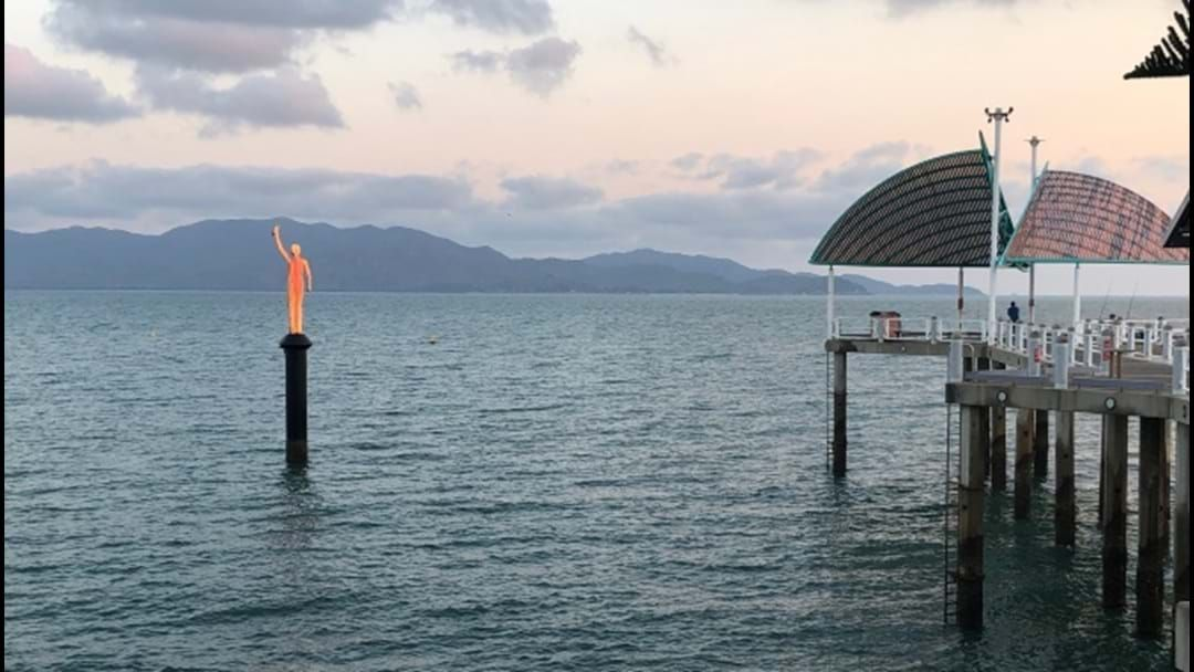 Article heading image for Don't Freak Out, This Is Why There's A Sculpture Emerging From The Water On The Strand