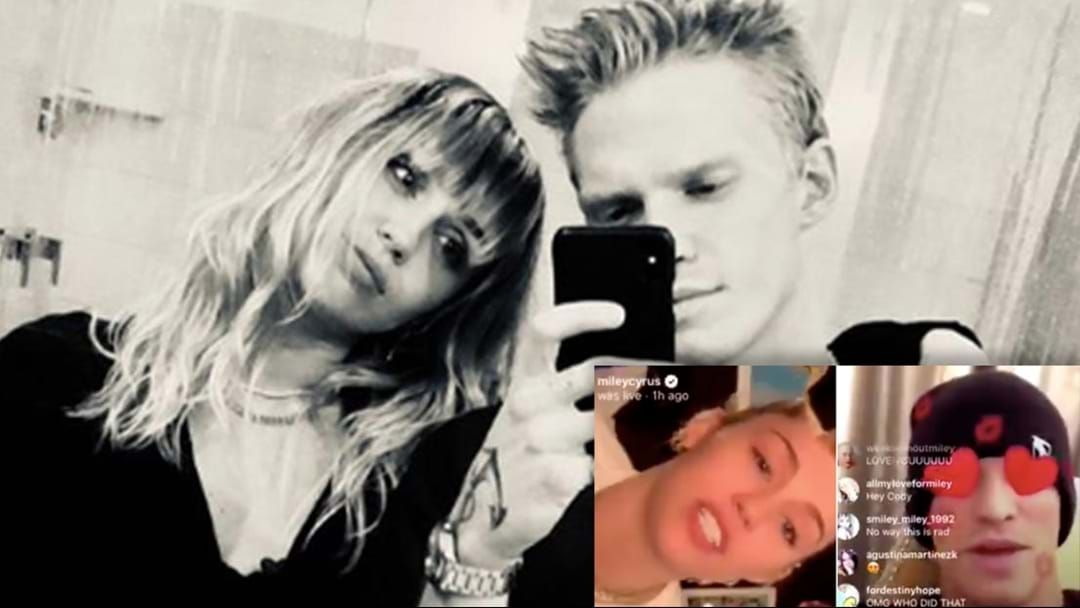 Article heading image for Cody Simpson Backs Girlfriend Miley Cyrus After She Made Comments About Her Sexuality On Instagram