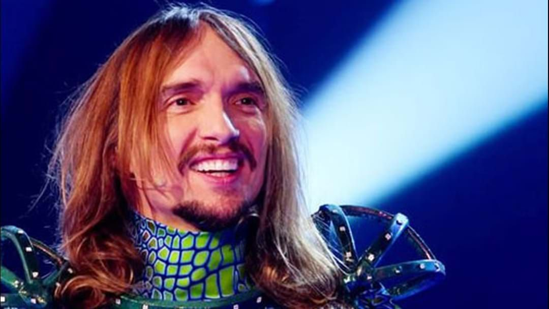 Article heading image for The Darkness's Justin Hawkins Covered Cyndi Lauper And Radiohead Dressed As A Light Up Chameleon
