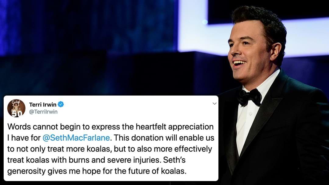 Article heading image for Seth MacFarlane Has Donated $1Mill To The Australia Zoo Wildlife Hospital