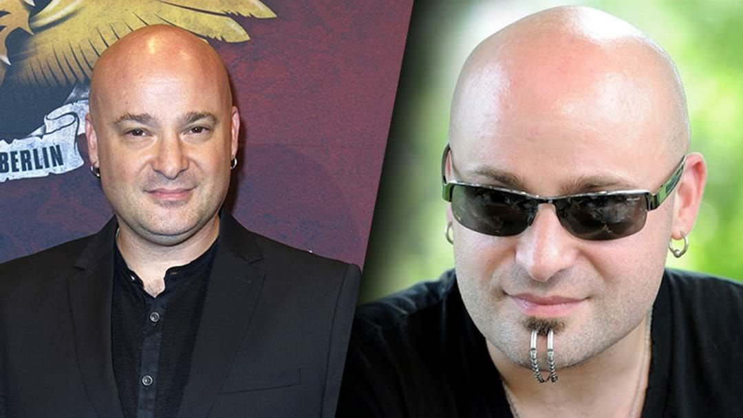the lead singer from disturbed has removed his chin piercing things triple m. Black Bedroom Furniture Sets. Home Design Ideas
