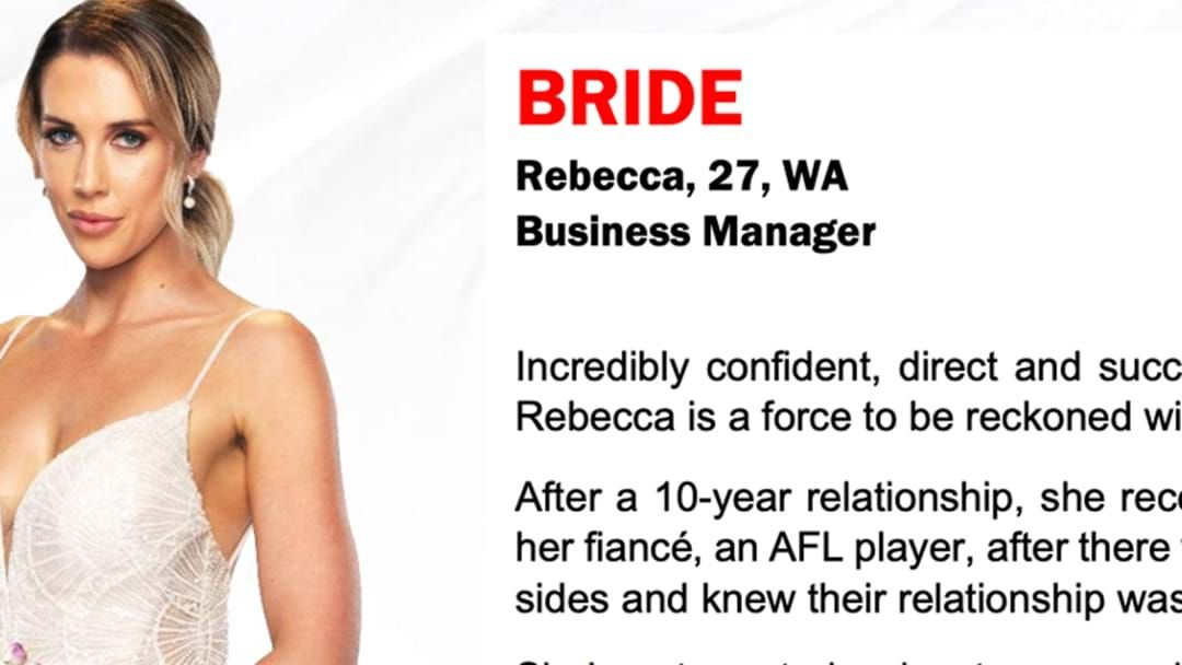 """Article heading image for MAFS: Bec On Her Hubbie: """"It wasn't what I wanted to hear, that's for sure"""""""