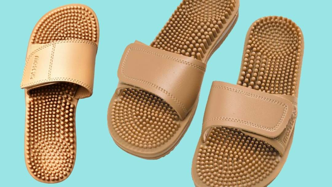 Article heading image for Great News: Massage Sandals From Your Local Chemist Are Now In Fashion