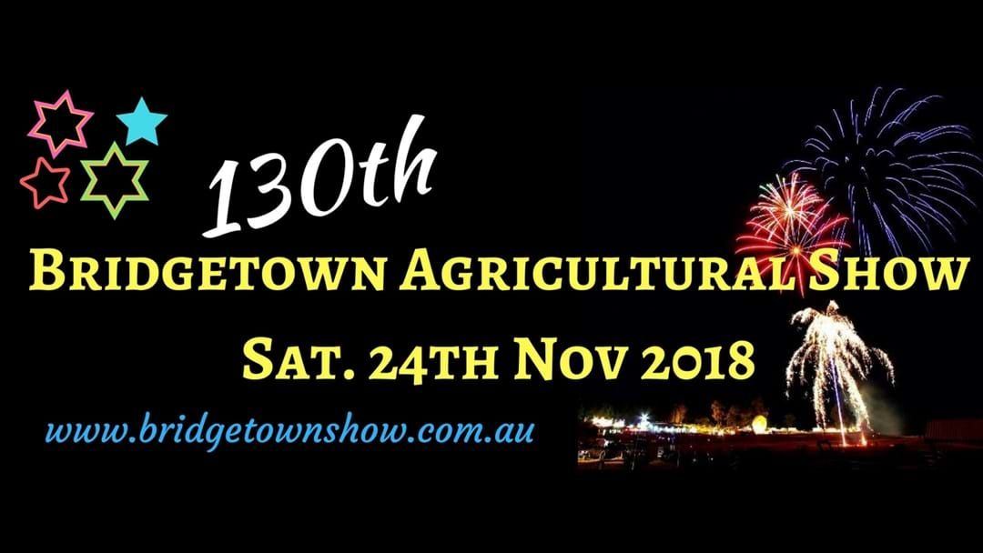 Article heading image for Bridgetown Agricultural Show